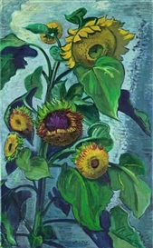 Artwork by Max Pechstein, SONNENBLUMEN, Made of Oil on canvas
