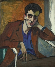 Artwork by Alice Neel, PORTRAIT DICK BAGLEY, Made of Oil on canvas