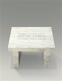 Jenny Holzer, SELECTION FROM SURVIVAL: PEOPLE LOOK LIKE...