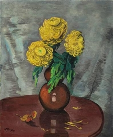 Artwork by Max Pechstein, CHRYSANTHEMEN, Made of Oil on canvas