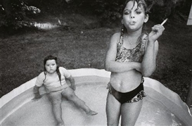 Artwork by Mary Ellen Mark, AMANDA AND HER COUSIN AMY - VALDESE, NORTH CAROLINA, Made of Gelatin silver print