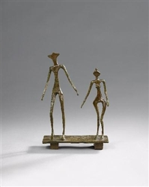 Artwork by Diego Giacometti, LE COUPLE, Made of Bronze sculpture