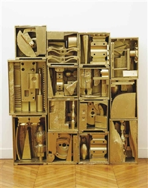 Artwork by Louise Nevelson, Royal Tide II, Made of painted wood