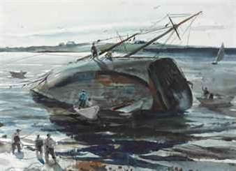 Trawler Aground By Andrew Wyeth ,1940
