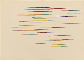 Artwork by Piero Dorazio, UNTITLED, Made of Watercolour on cardboard