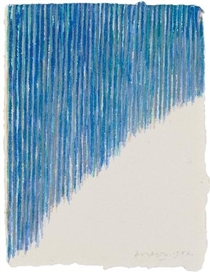 Artwork by Piero Dorazio, UNTITLED, Made of Watercolour on sturdy Velin-card