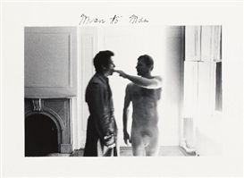 Artwork by Duane Michals, MAN TO MAN, Made of gelatin silver prints