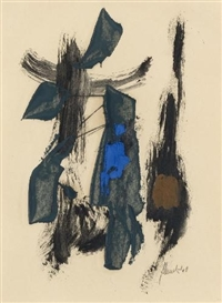 Artwork by Fritz Winter, UNTITLED, Made of Oil on paper