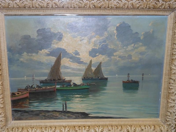 Harbor Scene With Boats
