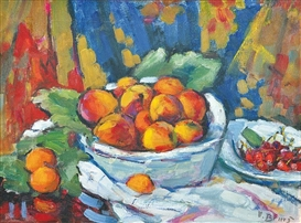 Artwork by Vincenc Benés, Still life with fruit, Made of oil on canvas