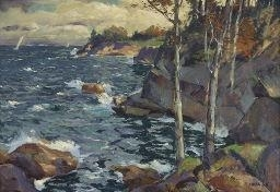 Artwork by Jonas Lie, MAINE HEADLAND, Made of oil on canvas