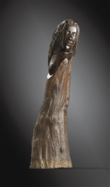 Artwork by Paul Gauguin, FIGURE TAHITIENNE, Made of carved