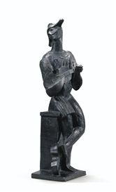 Artwork by Ossip Zadkine, ARLEQUIN, Made of bronze
