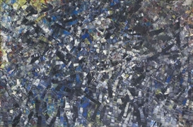 Artwork by Jean-Paul Riopelle, Il était une fois, Made of oil on canvas