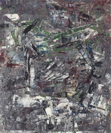 Artwork by Jean-Paul Riopelle, Paris c'est plus vieux, Made of oil on canvas