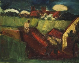 Artwork by Constant Permeke, Working the field, Made of oil on canvas