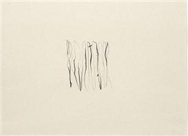 Artwork by Jan Groth, Komposisjon, Made of Charcoal on paper