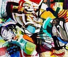 Artwork by Lars Nørgård, Krakær drengekor, Made of Oil on canvas
