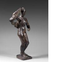 Artwork by Germaine Richier, MEDITERRANEE, Made of Bronze with brown patina