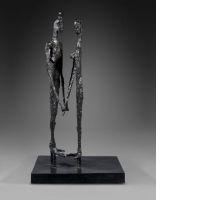 Artwork by Germaine Richier, FIGURES OU LE COUPLE, Made of Bronze sculpture with black patina
