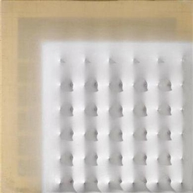 Artwork by Enrico Castellani, Polittico, Made of acrylic, polyester resin on shaped canvas