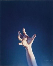 Artwork by Gottfried Helnwein, Hand, Made of mixed media on paper