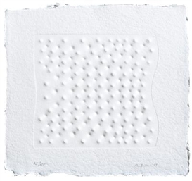 Artwork by Enrico Castellani, Tre superfici, Made of embossing