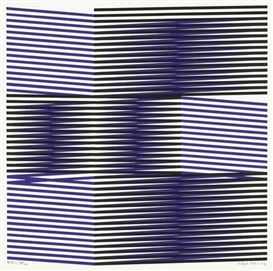 Artwork by Carlos Cruz-Diez, UNTITLED, Made of Colour silkscreen on cardboard