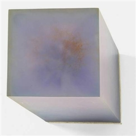 Artwork by Herbert Hamak, UNTITLED, Made of Block of artificial resin and pigment on canvas