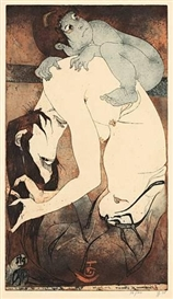 Horst Janssen, PORTFOLIO OF 8 WORKS: UTAMARO