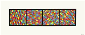 Sol LeWitt, SET OF 2 WORKS: BROKEN COLOR BANDS IN FOUR DIRECTIONS