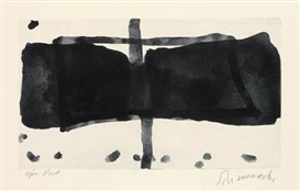 Artwork by Emil Schumacher, 3/1967, Made of Aquatint on wove paper