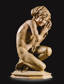 Artwork by Jean-Baptiste Carpeaux, PÊCHEUR À LA COQUILLE, Made of terracotta