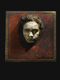 Artwork by Franz von Stuck, BEETHOVEN, Made of gilt and polychromed stucco