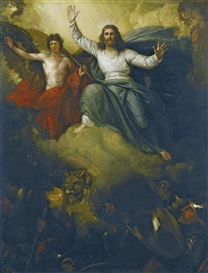 Artwork by Benjamin West, THE MESSIAH, Made of oil on panel