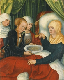 Artwork by Lucas Cranach the Elder, SAINT ANNE AFTER THE BIRTH OF THE VIRGIN, Made of oil on panel