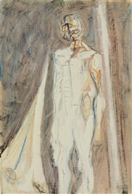 Max Gubler, Study for a standing male figure