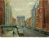 Anthony Springer, 2 Works: Fifth Avenue, New York City & Trucks on Hudson Street, New York City