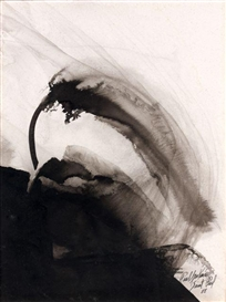 Artwork by Paul Jenkins, SANS TITRE, Made of Drawing ink on paper