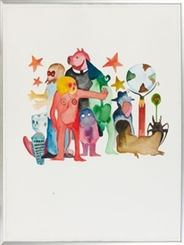 Artwork by Fabien Verschaere, SANS TITRE, Made of Watercolor on vellum paper
