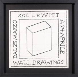 Sol LeWitt, WALL DRAWINGS, (working drawing for wall drawings)