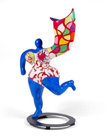 Artwork by Niki de Saint Phalle, ANGEL VASE (BLEU), Made of Painted polyester resin sculpture