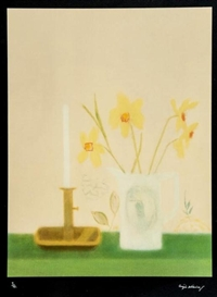 Craigie Aitchison, Daffodils and Candlesticks