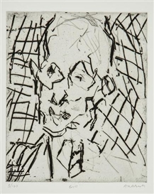 Artwork by Frank Auerbach, Bill, Made of etching