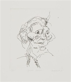 Artwork by Frank Auerbach, Gerda Boem, Made of etching