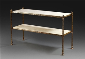 Diego Giacometti, Console table with double marble plate