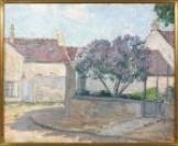 Artwork by Henri Lebasque, Rue de Village en Anjou, Made of Oil on canvas