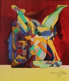 Artwork by Jacques Villon, La Lutte, Made of lithograph in colors