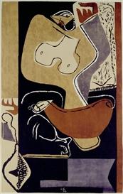 Artwork by Le Corbusier, Femme à la main levée, Made of Colour lithograph