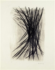Artwork by Hans Hartung, L10 (Black, grey), Made of Colour lithograph